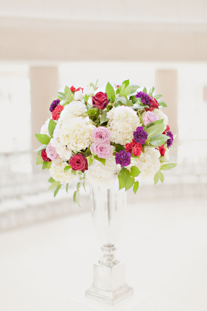 Hydrangea Rose and Greenery Arrangement