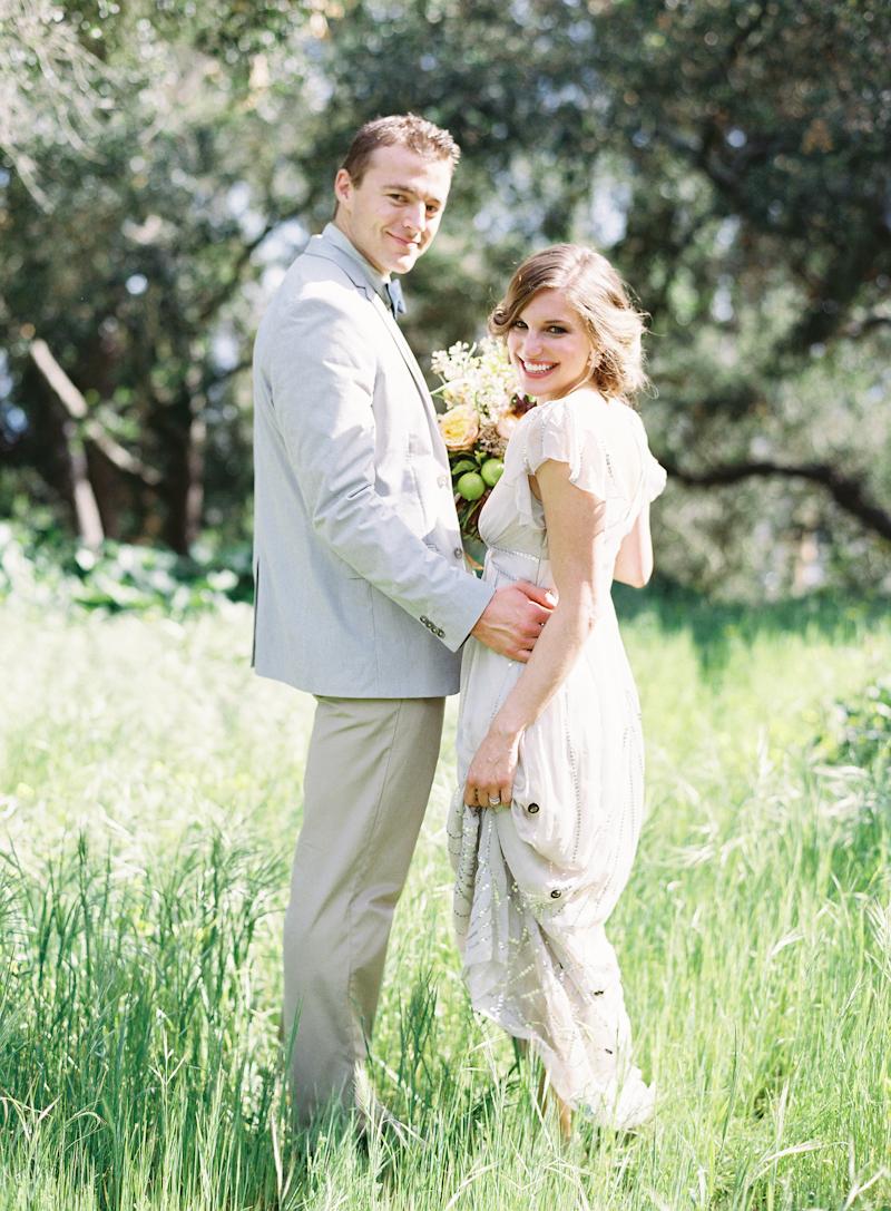 Light Gray Suit - Elizabeth Anne Designs: The Wedding Blog