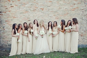 Long Light Taupe Bridesmaids Dresses