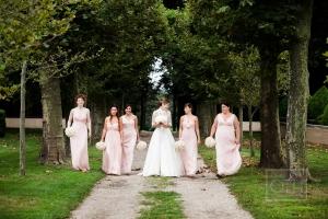 Long Pale Pink Bridesmaids Dresses