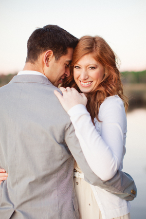 Long Wavy Hair in Engagement Photos