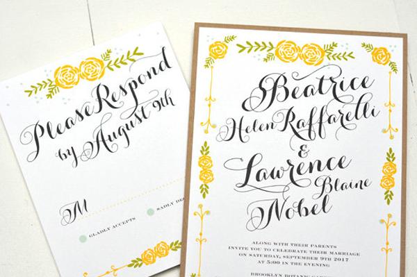 Modern and Pretty Wedding Invitation