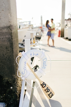 Nautical Theme Engagement Shoot From Brooke Images