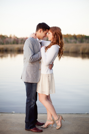 Neutral Clothing for Engagement Photos