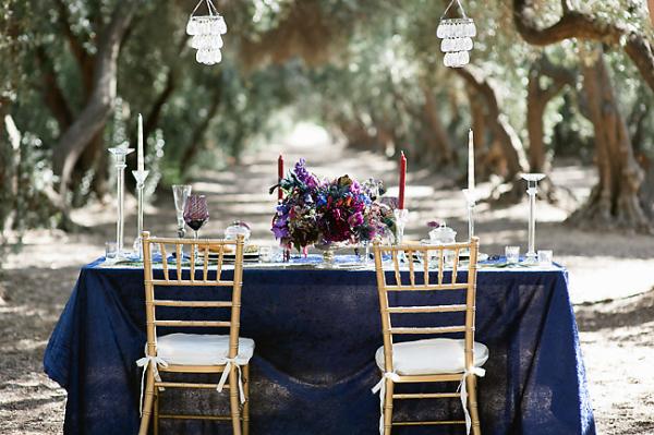 Outdoor Jewel Tone Tablescape