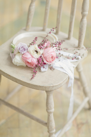 Pastel Flower Belt for Bridal Gown