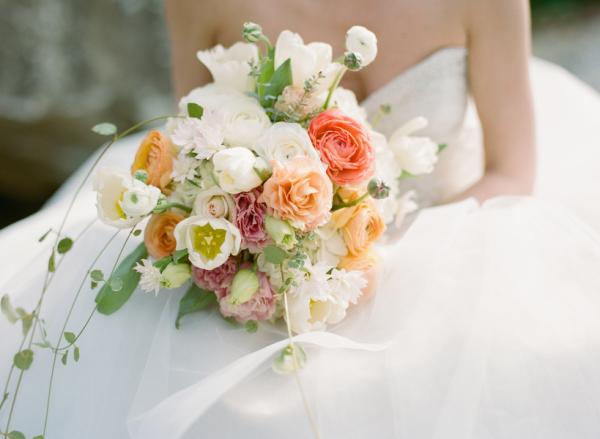 Peach Green Bouquet