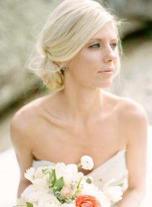 Peach Ivory Bouquet
