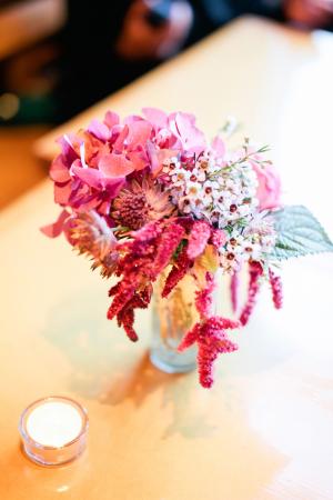 Pink Wildflower Inspired Arrangement