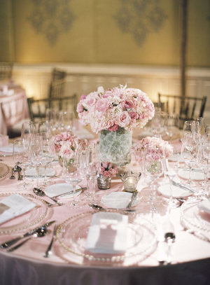 Pink and White Reception Decor Ideas