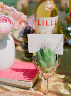 Place Card in Succulent