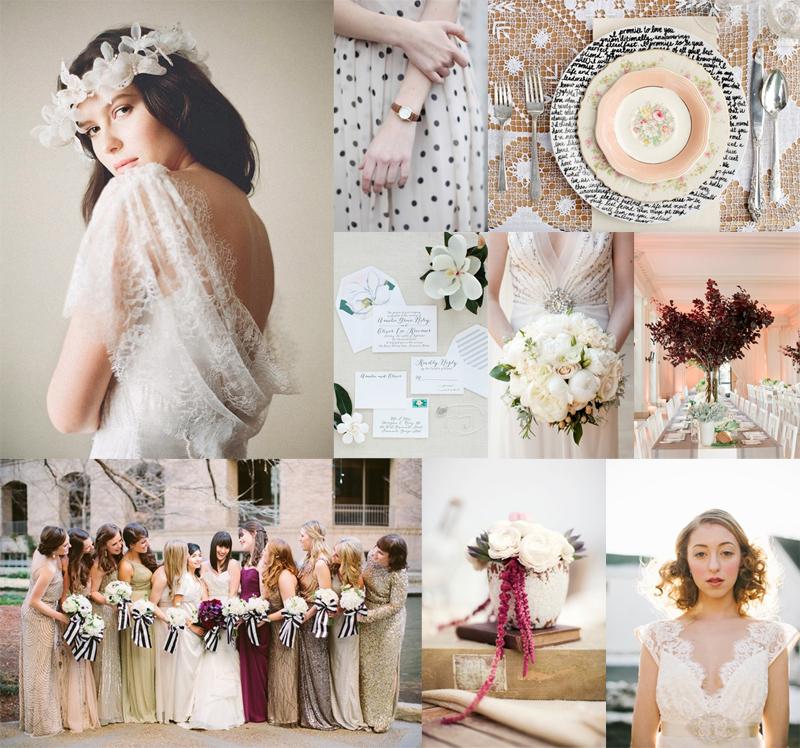 Plum Peach Gold Black Wedding Colors Elizabeth Anne
