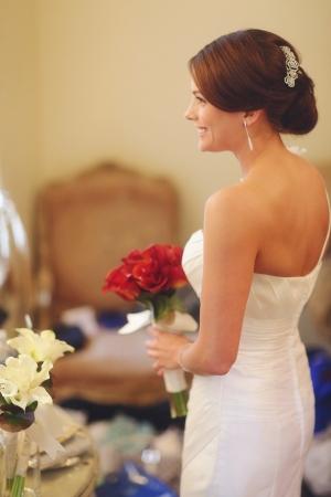 Red Calla Lily Bridal Bouquet