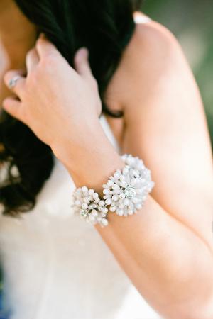Rhinestone Flower Bracelet Bridal Jewelry