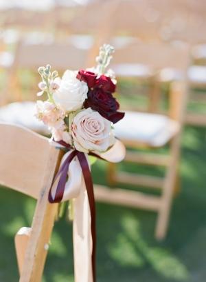 Rose Bouquet Aisle Chair Decor
