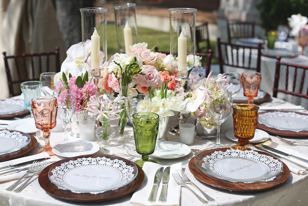 Rose Gold Wedding Ideas For Ceremony Reception Décor: Rose Gold Green And Pink Reception Table Decor