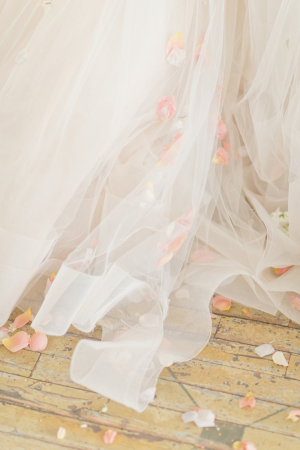 Rose Petals on Tulle Gown