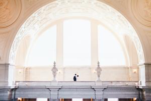 San Francisco City Hall Wedding Portrait
