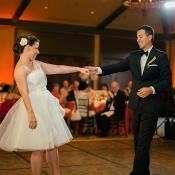 Short One Shoulder Bridal Reception Dress