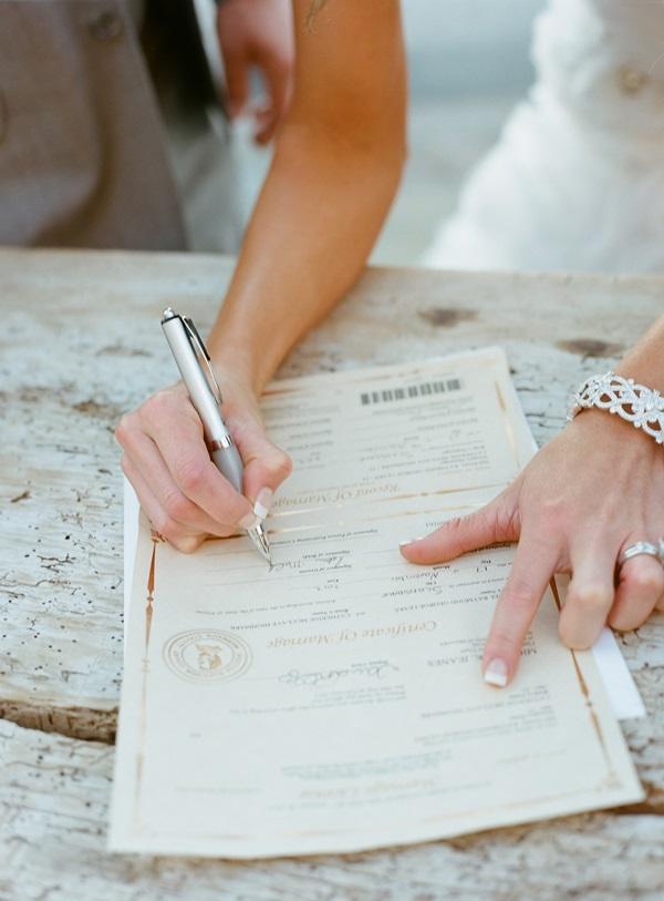 Signing Marriage Certificate - Elizabeth Anne Designs: The Wedding Blog