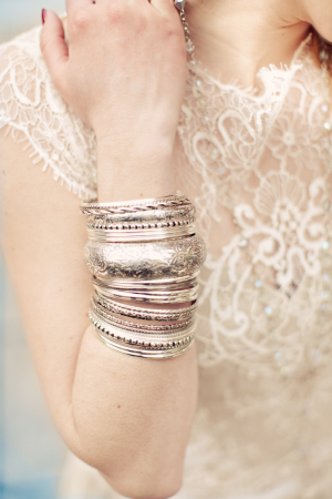 Silver Bangles Bridal Jewelry
