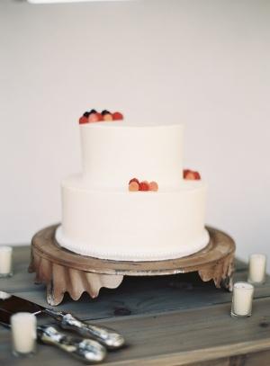 Simple Wedding Cake With Fresh Berries