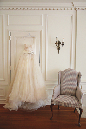 Sophisticated Beaded and Tulle Wedding Gown