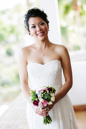Strapless Column Style Bridal Gown
