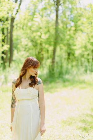 Strapless Wedding Gown With Darts