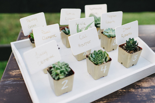 Succulent Escort Cards - Elizabeth Anne Designs: The Wedding Blog