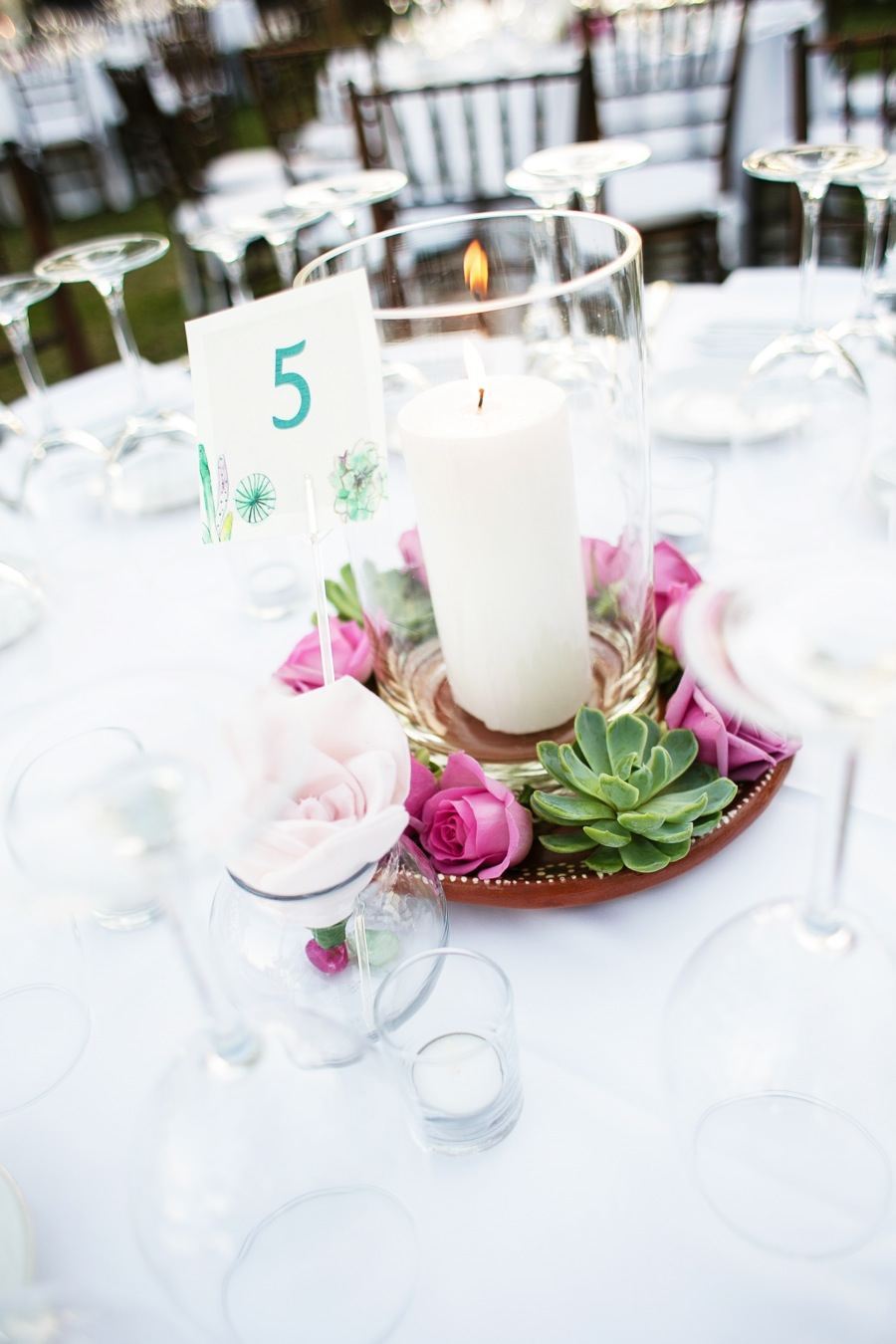 Dorable All Candle Wedding Centerpieces Festooning - The Wedding ...