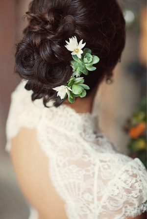 Succulent Wedding Hair Ideas