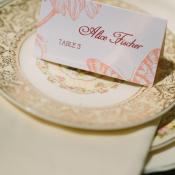 Vintage China and Letterpress Place Cards