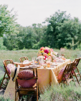 Vintage Tablescape in Field