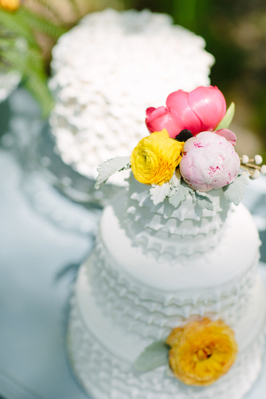 Wedding Cakes With Ruffled Icing