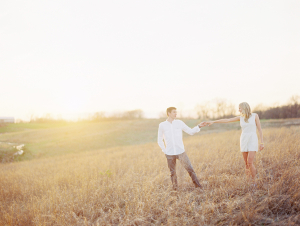 White Clothing in Engagement Portrait From Clary Photo