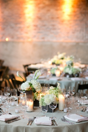 White Green and Taupe Reception Decor