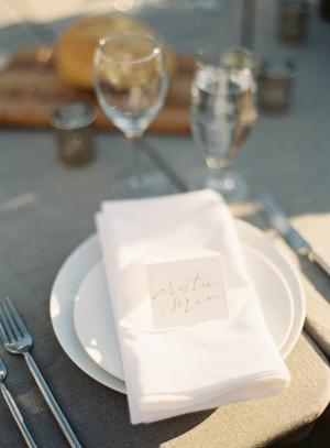 White Reception Tablescape