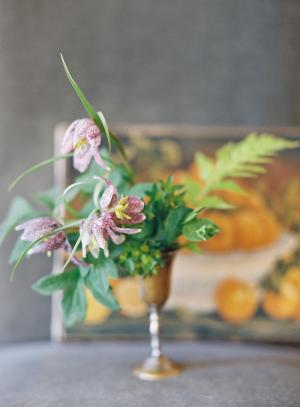 Wildflowers in Silver Goblet