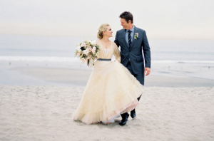 Couple On Beach In Winter