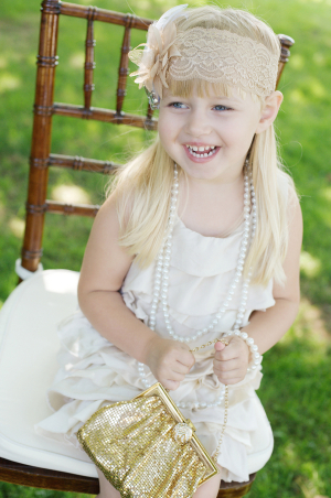 1920s Flapper Style Flower Girl Fashion