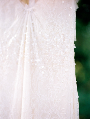 Beading Details on Wedding Gown