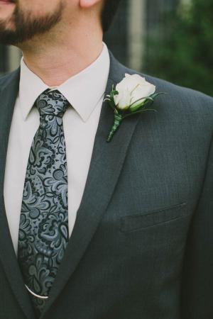 Black and Gray Paisley Tie