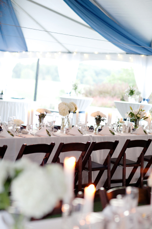 Blue and White Reception Tent