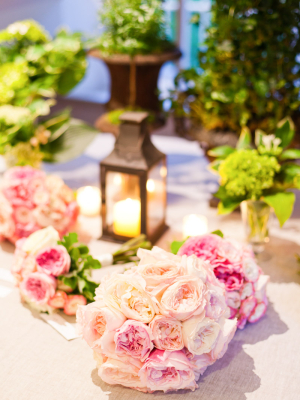 Blush and Bright Pink Bouquets