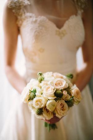 Blush and Cream Rose Bouquet