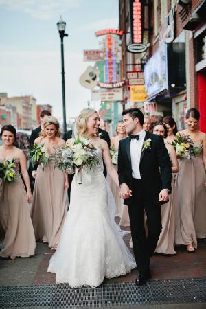 Bridal Party Portrait Downtown Nashville From Kristyn Hogan