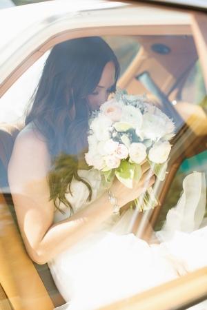 Bride in Getaway Car