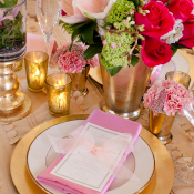 Bubblegum Pink and Gold Place Settings