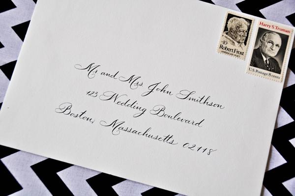 Calligraphy Addressed Envelope